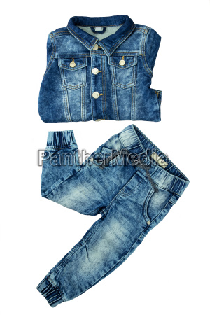 denim jacket and jeans pants presented