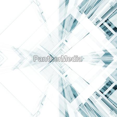 abstrakter architekturhintergrund 3d rendering