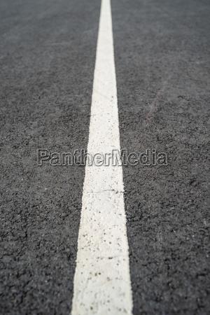 asphalt with white markings