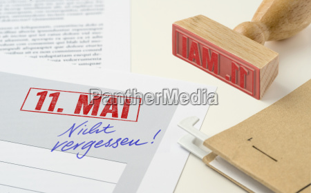 red stamp on documents may