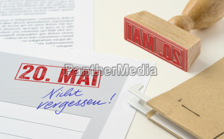 red stamp on documents may 20