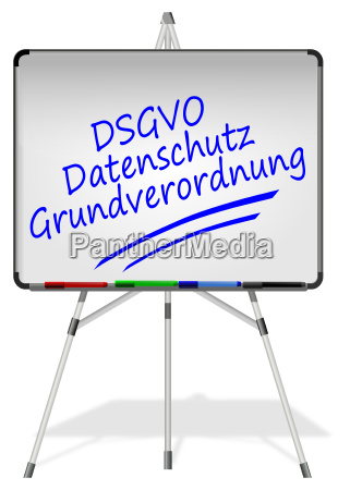 whiteboard with dsgvo general data protection