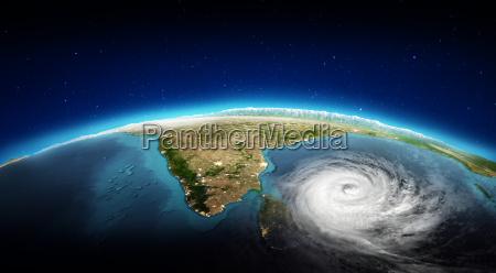 india city lights and tornado 3d