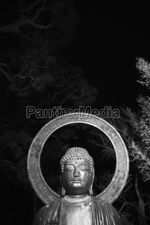 budda statue in der nacht