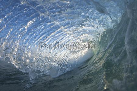 view inside ocean wave oahu hawaii