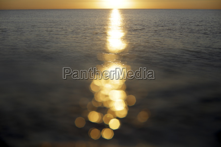 sunlight reflecting on sea surface at