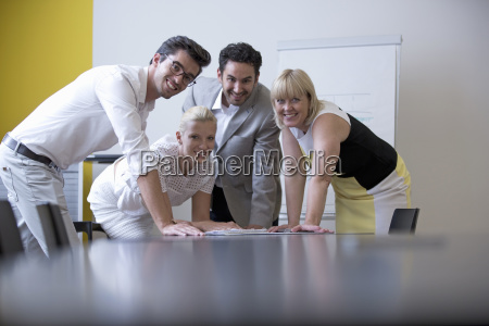 portrait of businesspeople in office meeting
