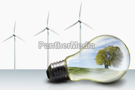 green energy concept with nature landscape