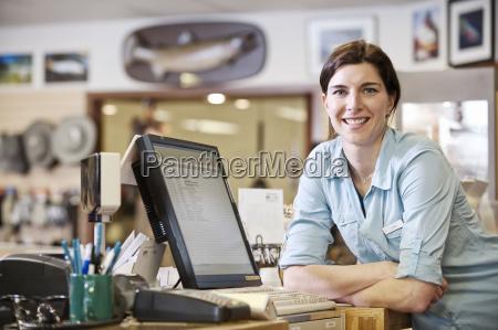 portrait of a female caucasian owner