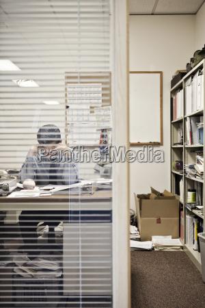 caucasian man working in an executive