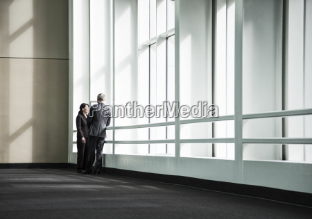 businessman and woman meeting in a