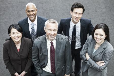closeup of a mixed race group