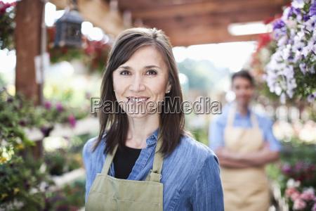 garden centre nursery caucasian woman owner