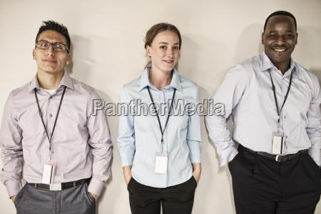 computer technician team standing in a