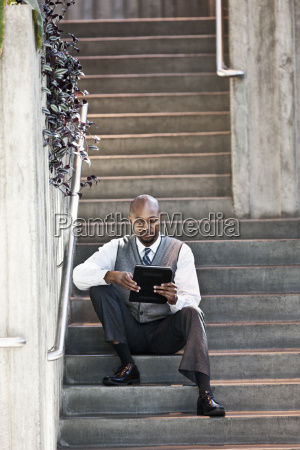 black man business person in a
