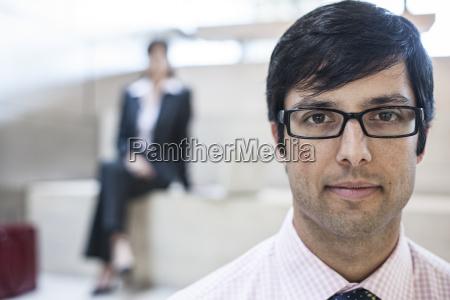 hispanic business man in an office
