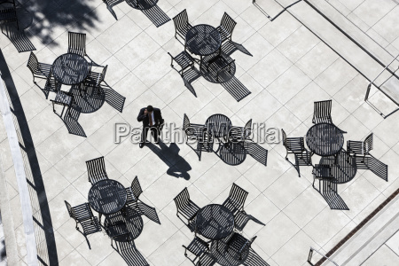 view from above of a businessman