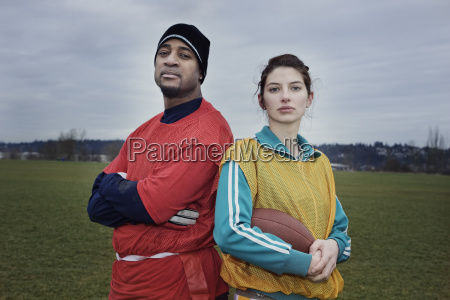 mixed race members of a team