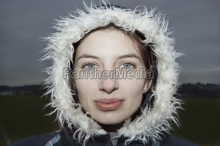 portrait of a caucasian woman wearing