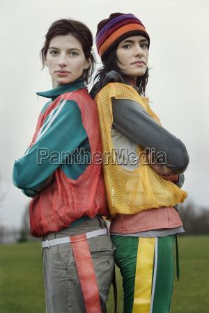 portrait of two caucasian women who