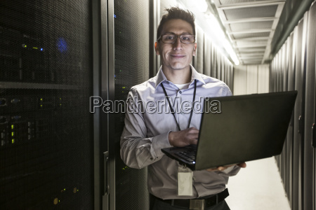 hispanic, man, technician, doing, diagnostic, tests - 24709438