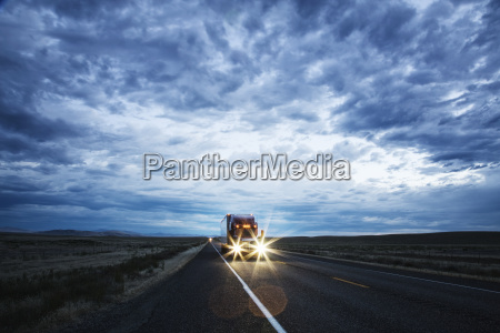 commercial truck on the road at