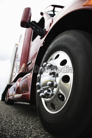the cab and front tire on