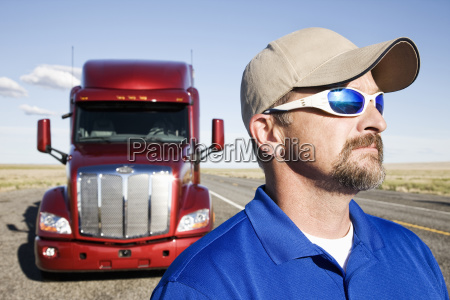 portrait of a caucasian man driver