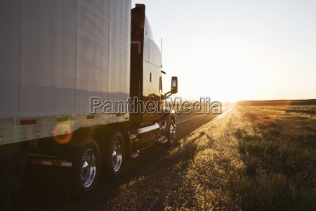 side view of a trailer and