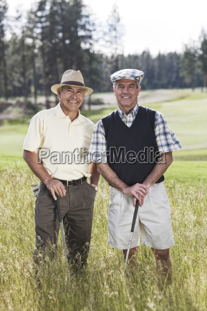 team of senior golfers out to