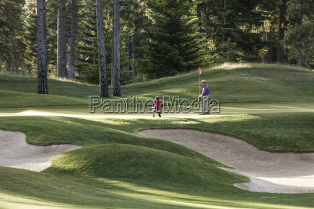 senior golfers on one of the