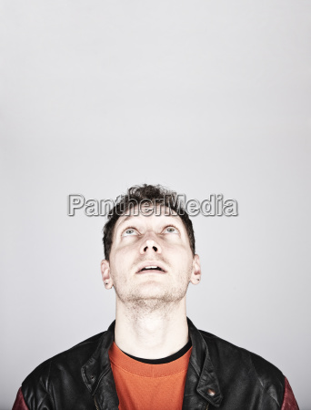 studio portrait of a caucasian man