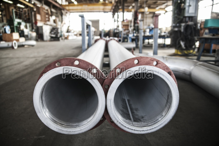 aluminium pipes manufactured in a sheet