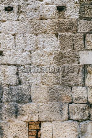 grey cube stone wall