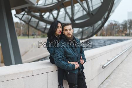 france paris portrait of young couple