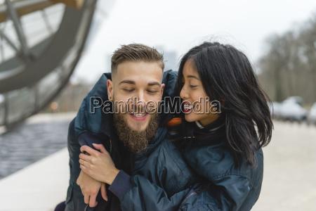 france paris happy young couple