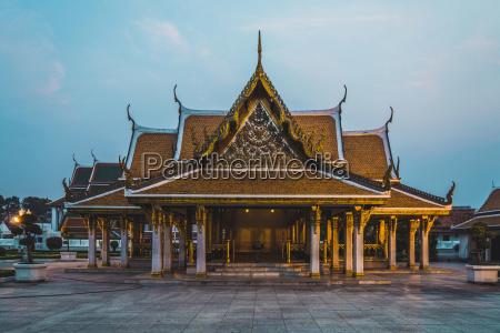 thailand bangkok view at temple in