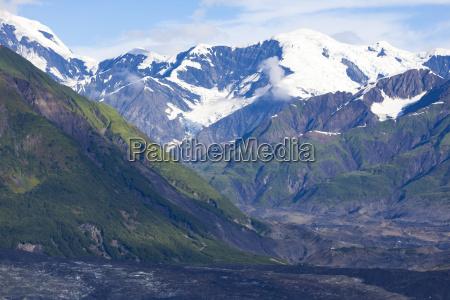 usa alaska mountains st elias mountains