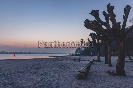 germany hamburg wittenbergen elbe beach with