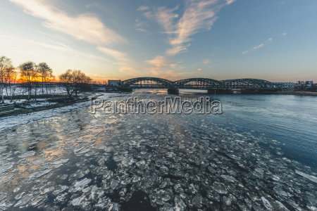 germany hamburg freihafenelbbruecke elbe river and