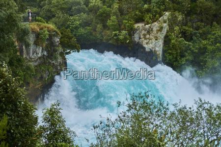 neuseeland nordinsel waikato river huka falls