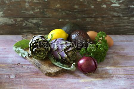 ingredients of filled avocado