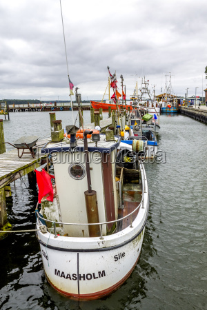 germany schleswig holstein maasholm fishing harbour
