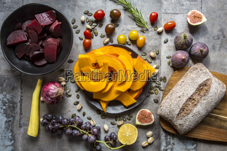 pumpkin panzanella bread salad of pumpkins