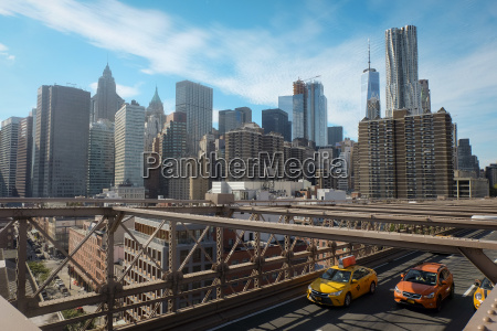 usa new york city skyline with