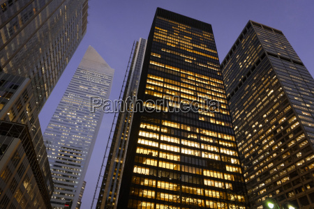 usa new york city skyscrapers at