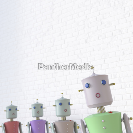 female robots with one seperated from