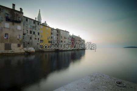 croatia rovinj row of houses in