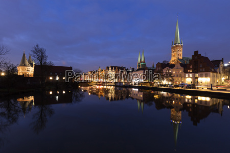 germany schleswig holstein luebeck old town