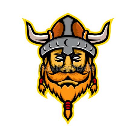 wikingerkrieger oder nordische raider hausprott mascot